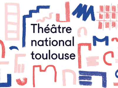 Theater National of Toulouse identity communication chalk theater