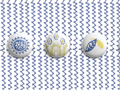 Opéra de Vichy graphic  design graphic graphisme pastel motifs patterns badges pims visual identity opéra