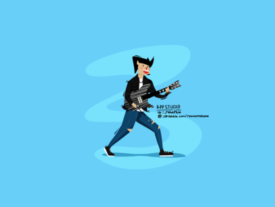 Synster Gates Flat Design Character