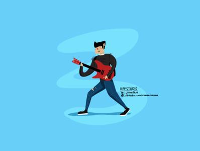 Zacky Vengeance Flat Design Character by RPP STUDIO