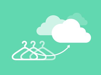 Upload illustration illustration upload flat boommy cloud hanger