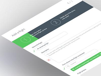 Add a flight ui ux flat flyingpeople form progress popup users interface pilots