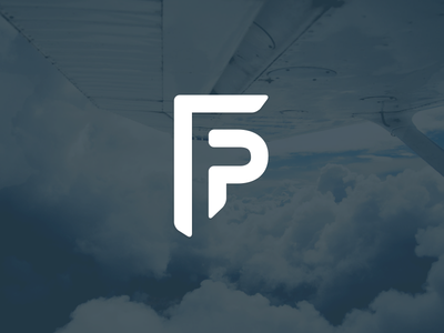 Flyingpeople logo logo flyingpeople f negative shape flying p negative negative space