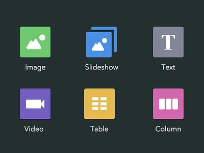 Content controls flat icons illustrations controls ui simplesite simple