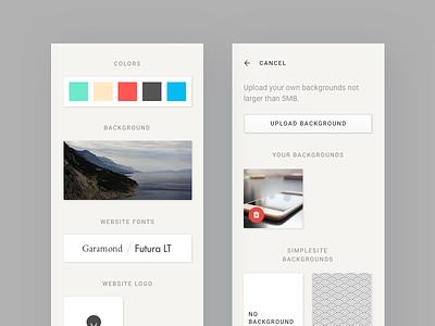 Desktop website editor web app user ui sketch responsive minimalistic ios interface clean