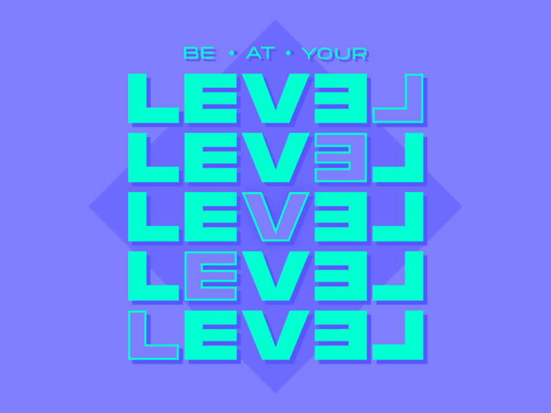 """MantraType 001 - """"Be At Your Level"""""""