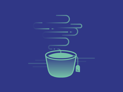 Would you fancy a cup of tea sometime? drink business card simple teacup steam gradient illustration cup tea