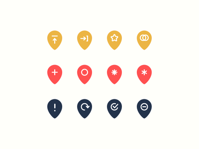 Rejected Map Icons submit open join flat icon location pin drop pin map