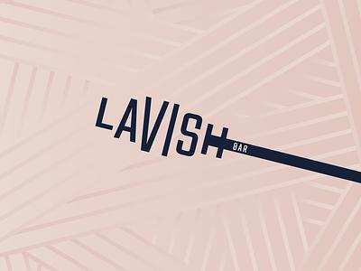 Lavish Bar Branding feminine vector mascara typography beauty logomark wordmark branding logo