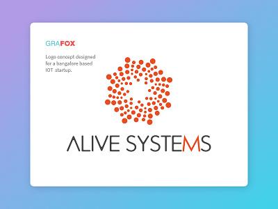 Alive Systems logo design logo smart appliances home automation iot