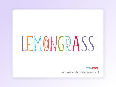 Lemongrass logo logo concept childens play school