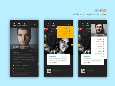 Photosocial user experience design mobile app hyper local services photo social