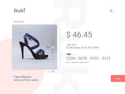 Ruki ui ux checkout page