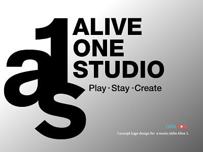 Alive1  Logo logo design logo recording studio music band