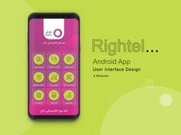Rightel android app UI design concept