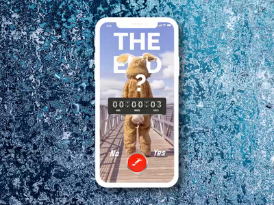 The End - what will you do? motion countdown timer timer bunny ui dailyui