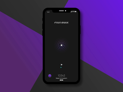 Pitch Black - got to get out app vector animation ui dailyui