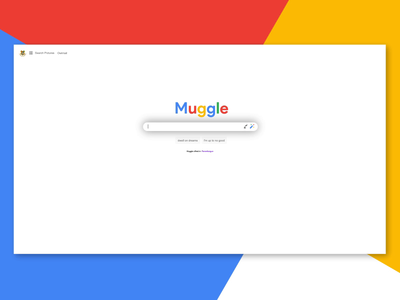Muggle Search - I solemnly swear that i am up to good graphic design ui google harry potter search search bar dailyui