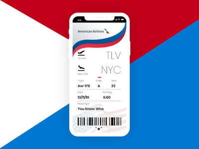 Boarding Pass To The Land Of Endless Possibilities american airlines boarding pass vector ui dailyui