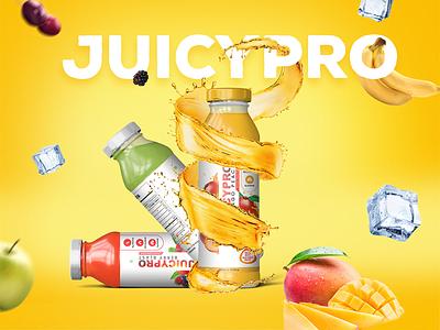 JuicePro Packaging design 01 vector label classy rabbixel royal product packaging design product packaging juice label product label design packaging design packaging