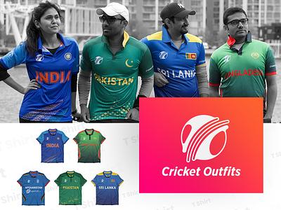 Cricket Outfits Branding conceptual graphics logo designer bangladesh  cricket srilanka  cricket pakistan  cricket indian cricket logo mark cricket outfits cricut t shirt design t shirt logo design logodesign logo rabbixel