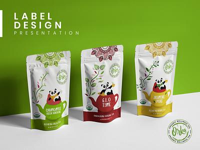 Dribbble Cover design flat illustration modern graphics rabbixel label packaging coffee tea label design label product package product packagin design product packaging product design