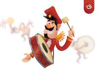 Musical Band Cartoon Character Set Design