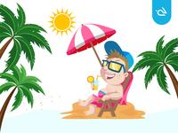 Beat The Heat - Summer Kids Illustration