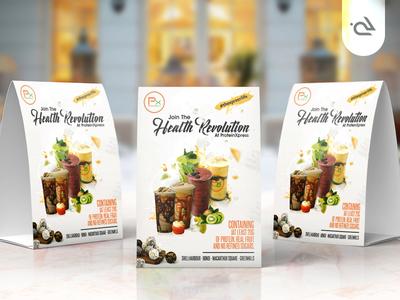 Health Revolution - Flyer Design rabbixel drinks slush revolution health menu food design flyer graphics