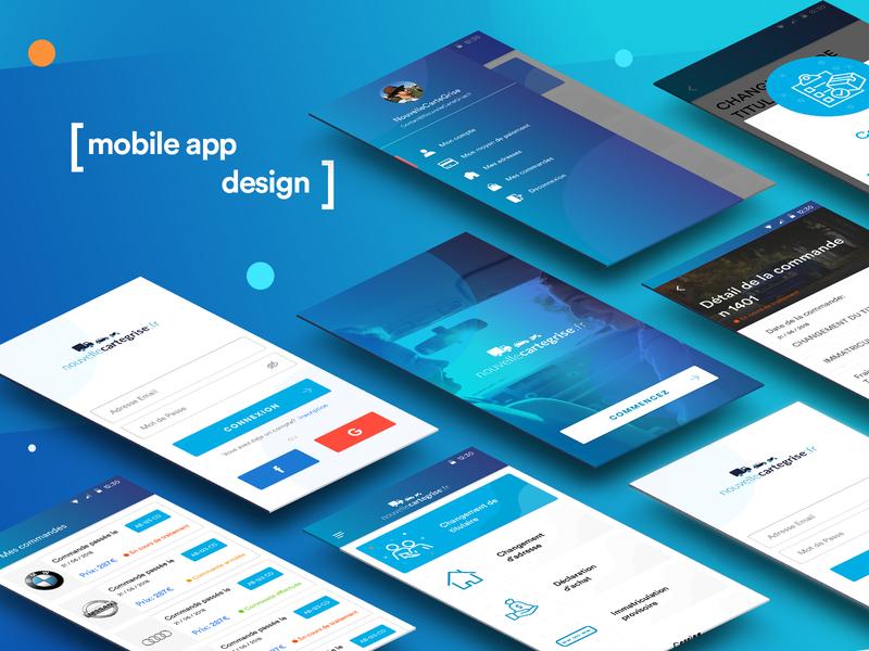 Nouvelle Cartegise App UI-UX Design applications andriod mobile app ui design business modern vector