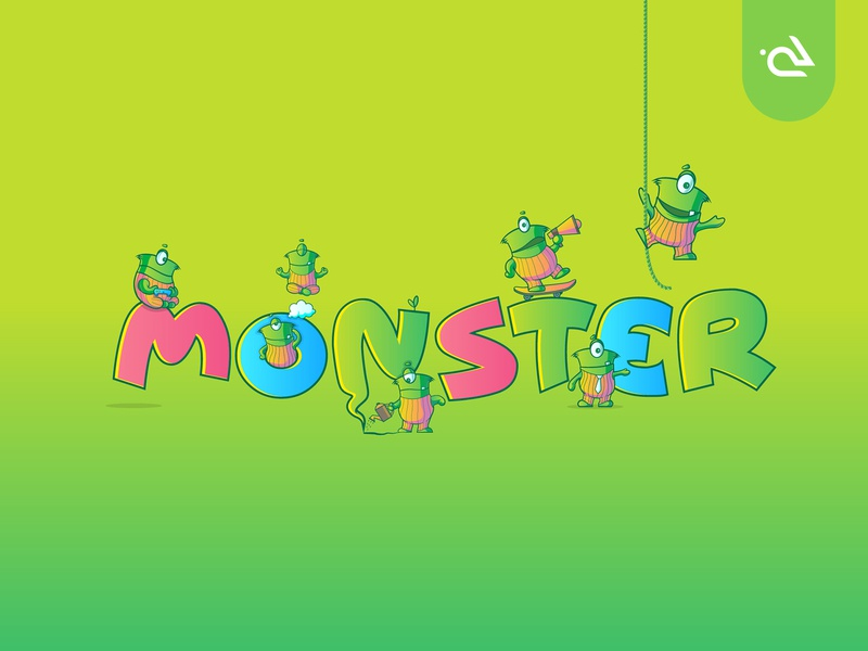 Dribbble rabbixel illustraion illsutrator stickers sticker gogo emoji set emojis emoji cartoon character cartoon monsters monster