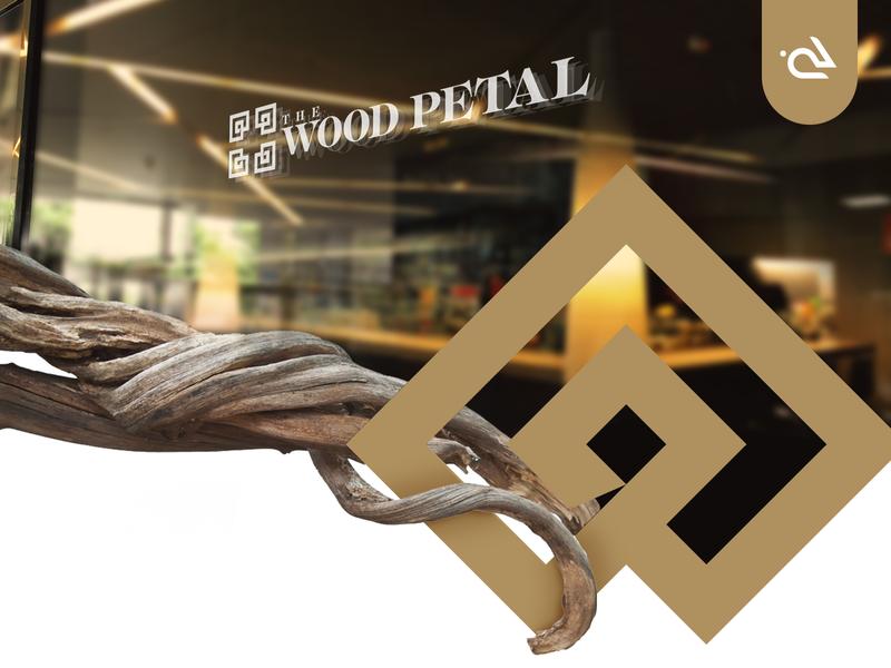 The Wood Petal   Restaurant Branding modern vector graphics rabbixel branding and identity logo design menu design cafe brand himachal mcleodganj indian food restaurant menu wood brand design brand identity logo branding