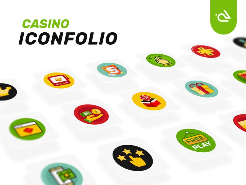 Casino Iconfolio rabbixel icons design illustrated icons illustration game icon app icon icons pack iconset iconography game gaming casino icons icon