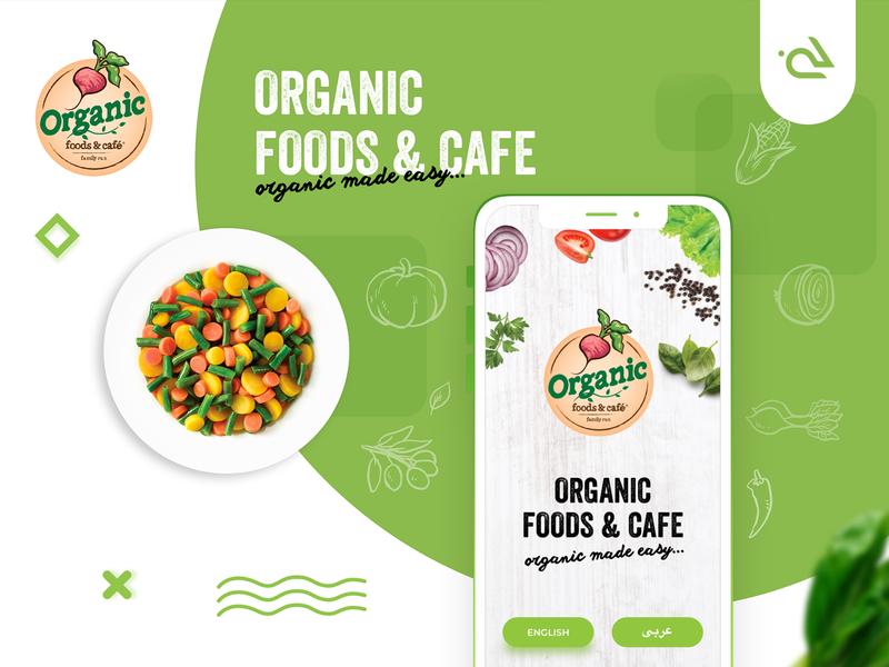 Organic Foods Cafe App Design onboarding design cool conceptual icons landing page graphics illustration business modern flat rabbixel ui design ui  ux organic food cafe cafe app food app app design app