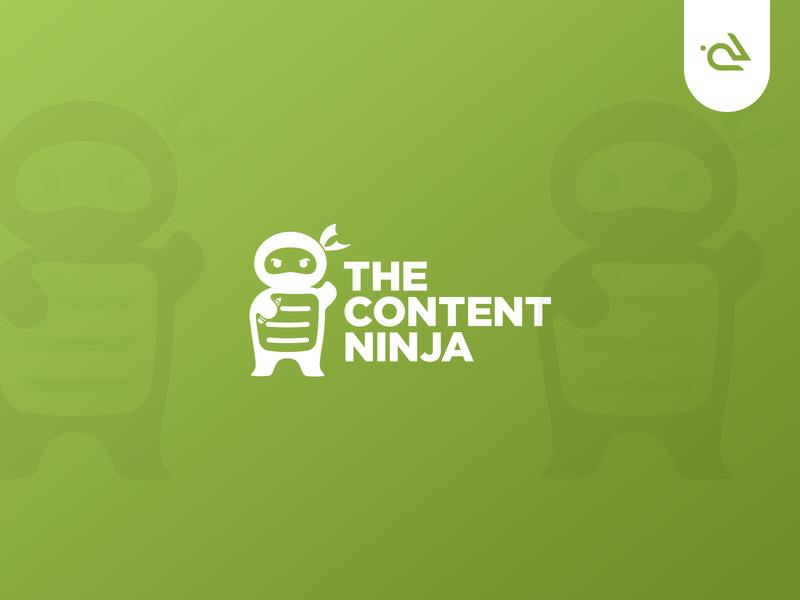 The Content NINJA Branding onboarding cartoon logo design concept brand logo brand book logo design flat design conceptual modern cool illustration vector graphics rabbixel ninja brand identity brand design branding logo