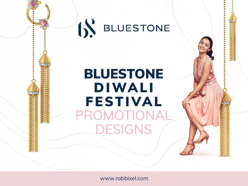 Bluestone Diwali Festival Promotional Design rabbixel branding agency graphic designer elegant design modern design