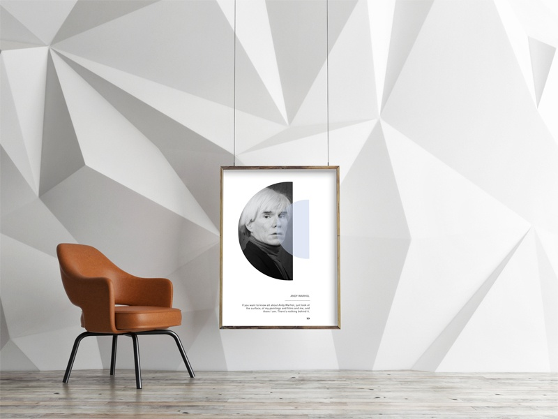 Andy Warhol Poster minimalism design graphic warhol andy interior poster