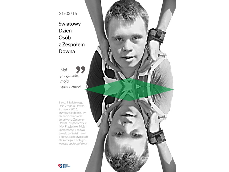 World Down Syndrome Day design graphic poster