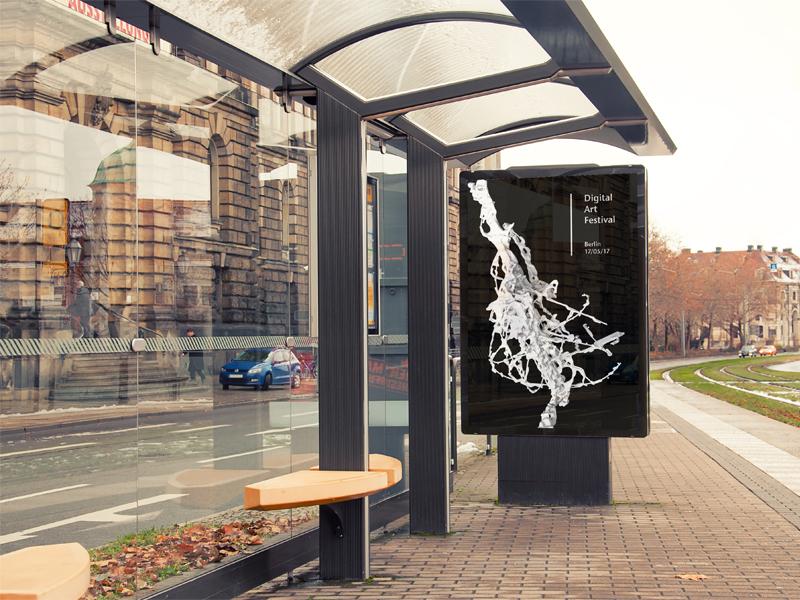 Digital Art Festival poster design parametric art digital