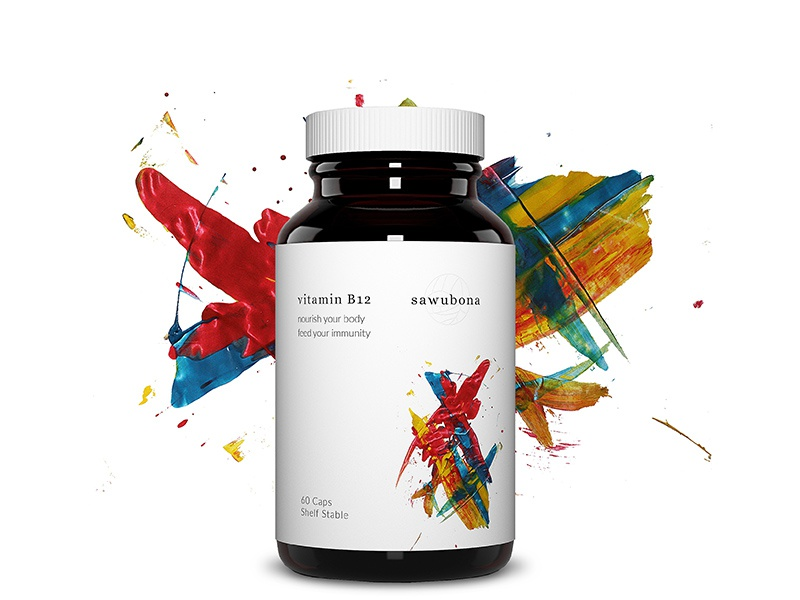 Sawubona- supplement packaging design graphic art packaging