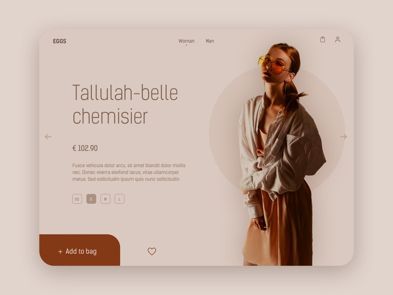 Fashion e-commerce - Product page