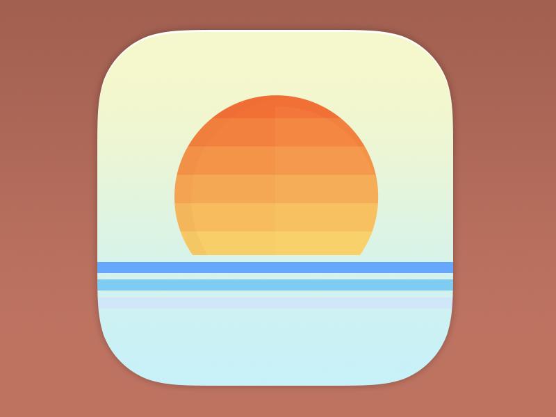 80's California california app icon iphone application gradient sunset