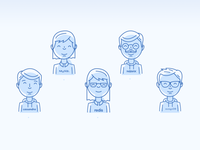 Teams/Hipsters Illustration