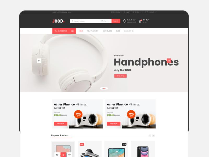 Electronics Store electronics store adobe xd store web-design web deisgn ui-ux ux ui ux  ui design