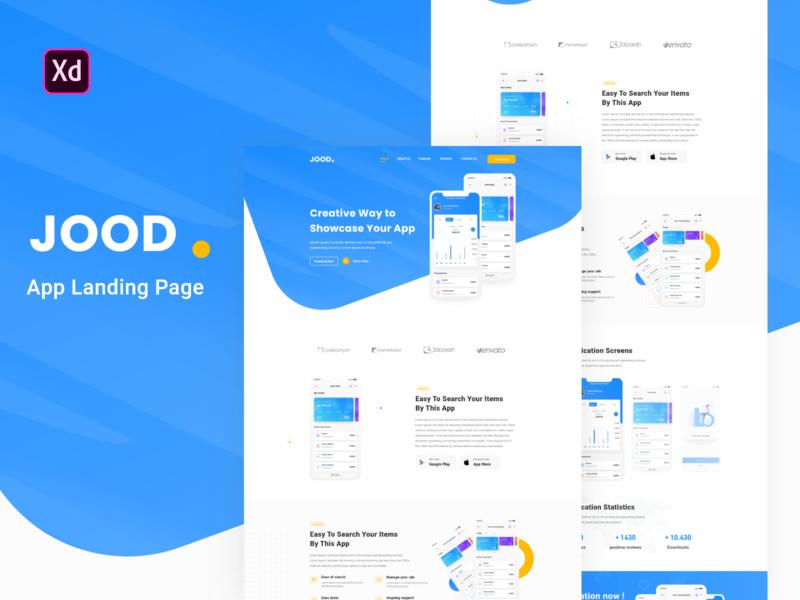 JOOD - App Landing Page Template webdesign app creative web deisgn ux ui-ux ui web-design app landing landing page ux  ui design
