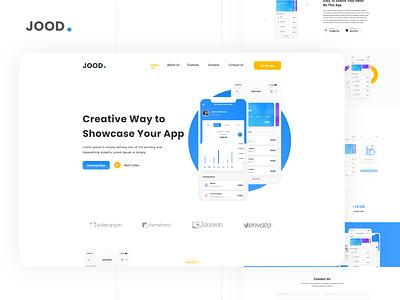 JOOD - App Landing Page Template illustrator creative ui homepagedesign app web deisgn landingpage ux  ui design