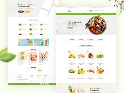 Healthy Food Web ui-ux design ux  ui creative organic food health store shop web web deisgn ui ecommerce design