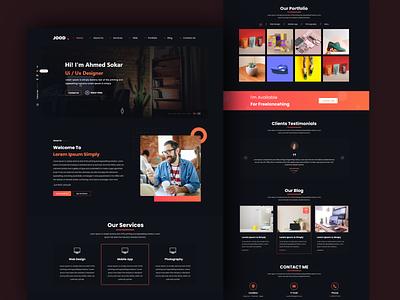 Jood - Creative Personal Portfolio Template web-design web deisgn designer agency startup landing page portfolio design creative portfolio uiux