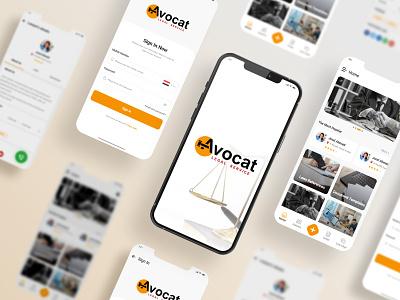 Avocat App sokar legal law questions design laws references lawyer ux ios app ui