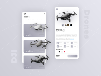 DJI Drones App UI